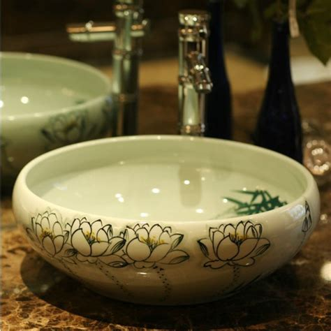 hand painted bathroom sinks aliexpress com buy china hand painted lotus ceramic art