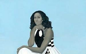 Gasps as Michelle Obama portrait unveiled