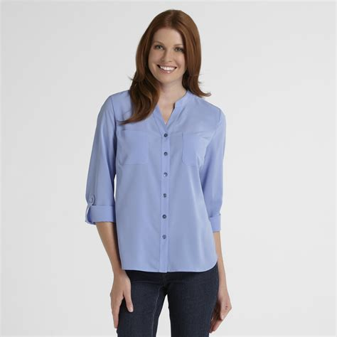 mandarin collar blouse covington 39 s mandarin collar blouse