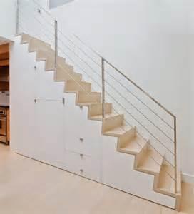 Escalier Mezzanine Rangement by Escalier Droit Et Escalier Tournant En 100 Designs Superbes