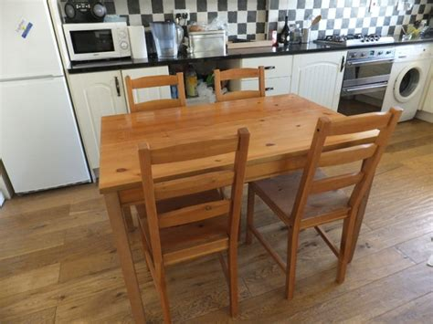ikea jokkmokk table and 4 chairs for sale for sale in lusk