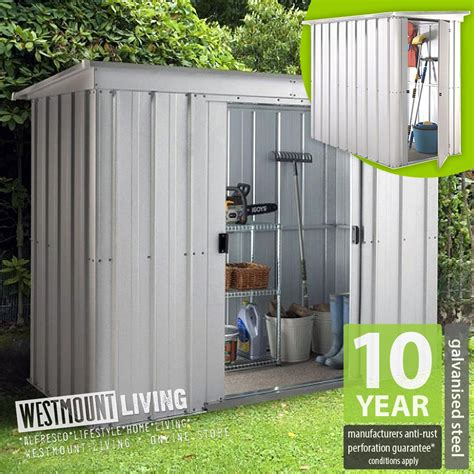 metal lean to shed new 5x4 6x4 8x4 10x4 ft galvanised metal lean to pent