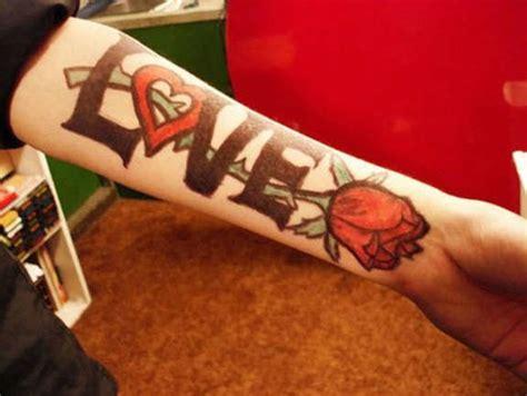 unisex  love tattoos designs