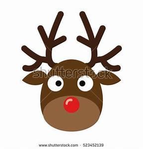 Deer Headreindeer Head Isolated On White Stock Vector ...