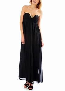 robe longue bustier noire et a sequins kiabi ma robe With robe de soirée kiabi