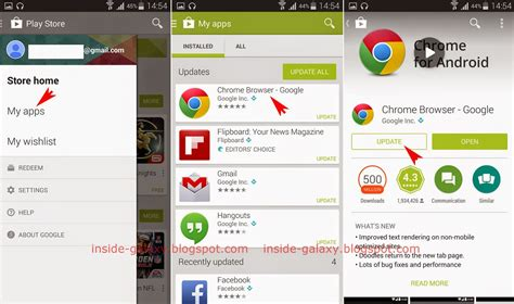 update apps on android samsung galaxy s5 how to update applications in android 4