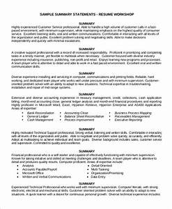 8 customer service resume examples sample templates for Customer service resume summary