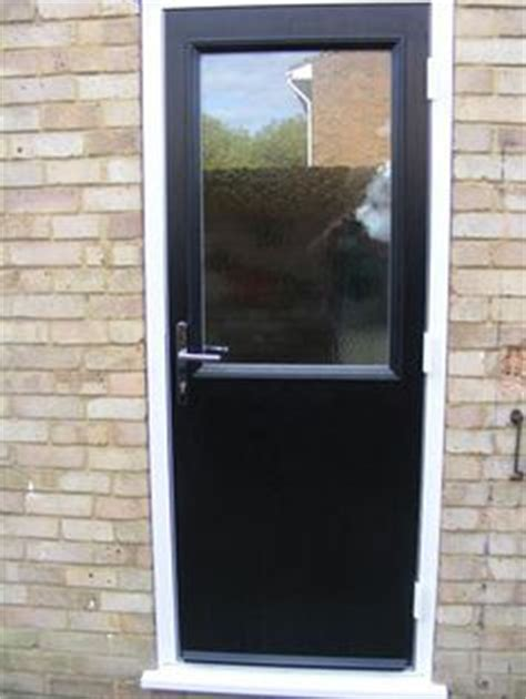 2 panel 1 square glazed composite back door in chartwell