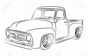 drawn truck pickup truck pencil and in color drawn truck With 1953 ford hot rod