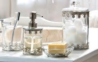 Glass Bathroom Set Chic Glass Bathroom Accessories Sets For Shabby Chic Bathroom Decorating Search