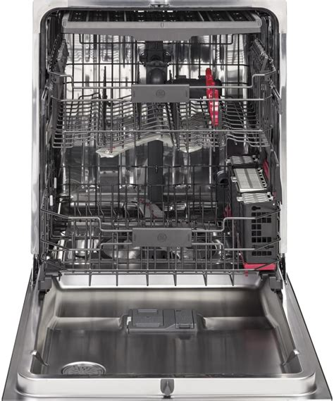 ge pdtssjss   fully integrated dishwasher   rack wifi connect quad blade wash