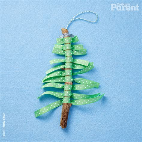 rustic christmas tree craft for kids today s parent