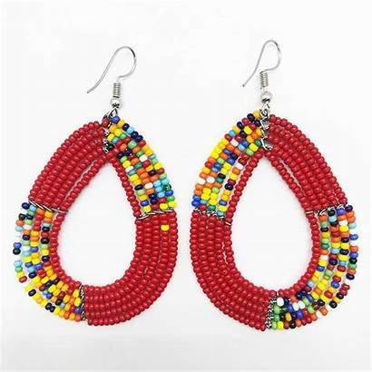 Maasai Earrings Beaded Beads Wishlist