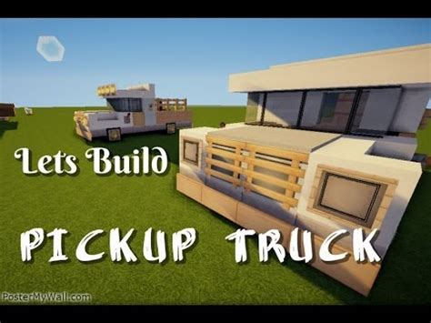 minecraft pickup truck minecraft lets build pickup truck quot tutorial quot youtube