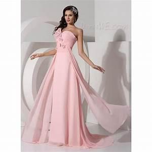 la mousseline de haute qualite robe longue une epaule With robe de soirée en mousseline longue