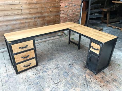 bureau metal industriel tables industrielle sur mesure et sur commande en bois mètal