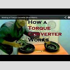How Torque Converter Works (must Watch) Youtube