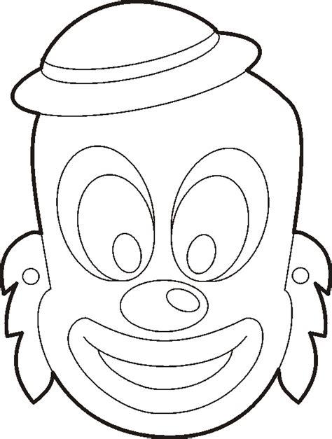 clown mask template tzivos hashem purim crafts