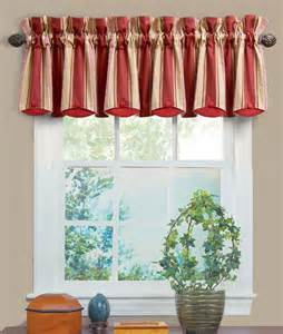 waverly kitchen curtains and valances yacht club stripe crimson chatham valance waverly