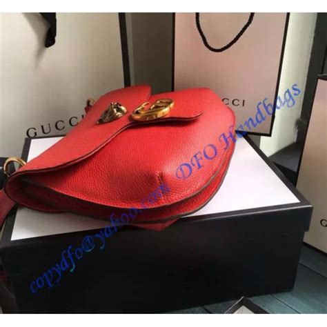gucci gg marmont leather shoulder bag gu red