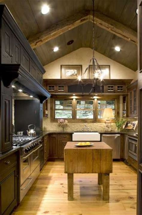 cozy kitchen ideas 40 cozy chalet kitchen designs to get inspired digsdigs