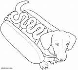 Dog Coloring Pages Weenie Fall Sheets Puppy Weiner Wiener Google sketch template