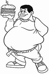 Fat Coloring Albert Boy Pages Burger Clipart Drawing Person Bring King Sketch Template sketch template