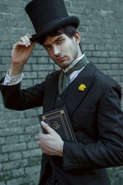 fashionable victorian gentleman  top hat victorian