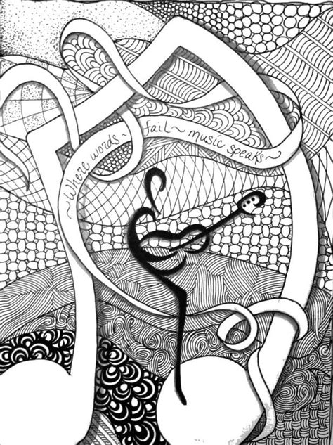 """iColor """"Music"""" ~ Where words fail, music speaks 617x825)...🌸🦋ADULT COLORING BOOK PAGES🦋🌻More P"""