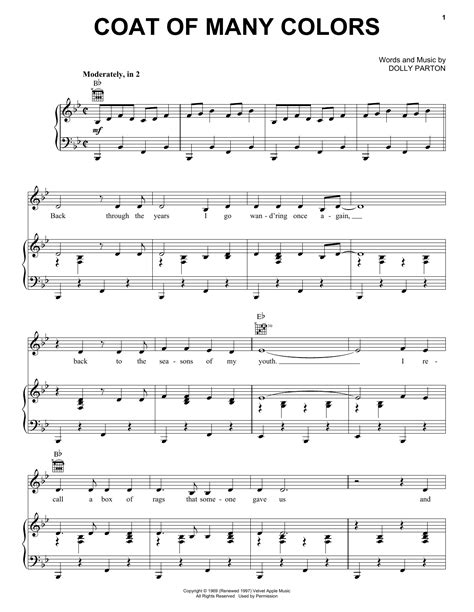 coat of many colors lyrics coat of many colors sheet by dolly parton piano