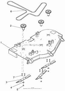 Gravely 915174  000101 -   Ztx 52 Parts Diagram For Deck  Belt  Blades And Spindles