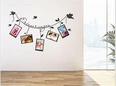Wandtattoo Bilderrahmen als kreative Alternative zu