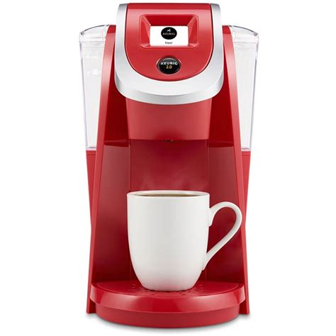 It has 2 water filters and 40oz water tank for a minimum of 4 cups serving before refilling. Keurig K200 Plus Single Serve Coffee Maker Brewer, Red (Certified Refurbished) - Walmart.com ...