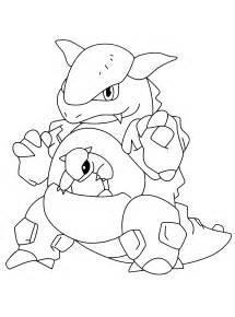 Mega Kangaskhan Pokemon Coloring Pages