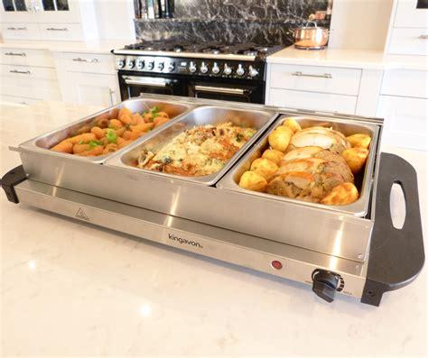 Kingavon Hot Buffet Server And Warming Tray 3 Pan