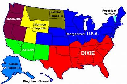 Split States United Southern Into Secession Nations