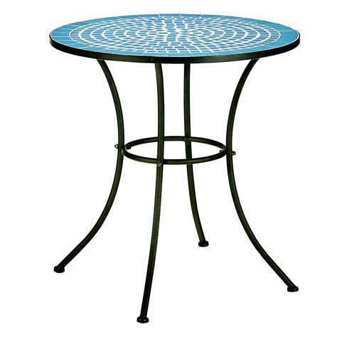 Agio International Patio Furniture by Essential Garden Patterson Mosaic Bistro Table Outdoor