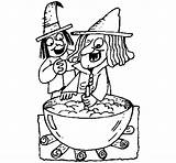 Potion Witch Coloring Halloween Pages Coloringcrew Template sketch template