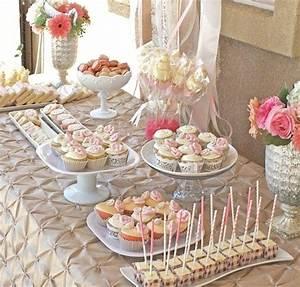 romantic bridal shower dessert table guest feature With wedding shower desserts