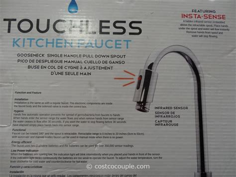 touchless kitchen faucet royal line royal line touchless chrome kitchen faucet