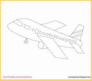Free Tracing Line Printable: Aeroplane Tracing Picture  Tracing
