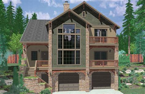 sloping lot house plans house plan plans for sloping hillside with walkout