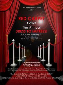 Prom Invitation Templates Red Carpet Flyer Red Carpet Party Red Carpet Theme