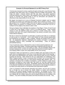 exle of personal statement for teaching personal statement exles for what should be included in my personal statement