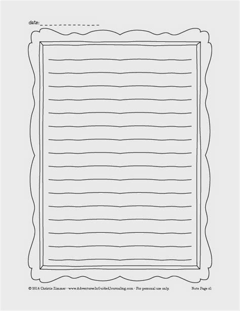 journal pages template 7 best images of blank notes page printable blank notes page template free printable planner