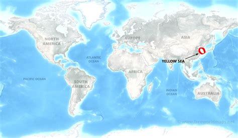 yellow sea  world map bestinthesw