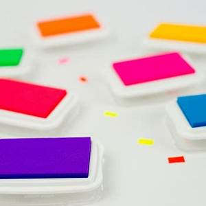neon ink pads by skull and cross buns rubber stamps