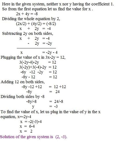 solving  substitution method page