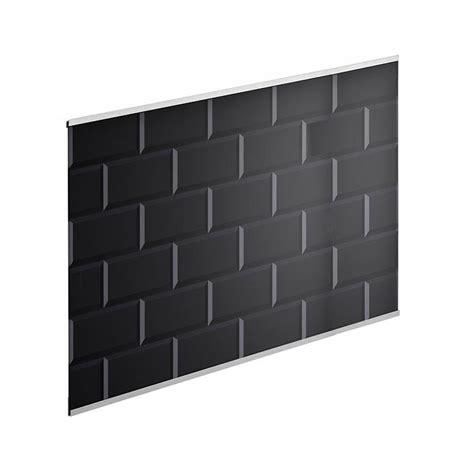 crédence verre carrelage métro noir h 45 cm x l 60 cm