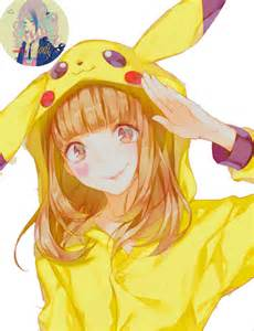 Pokemon Cute Pikachu Girl
